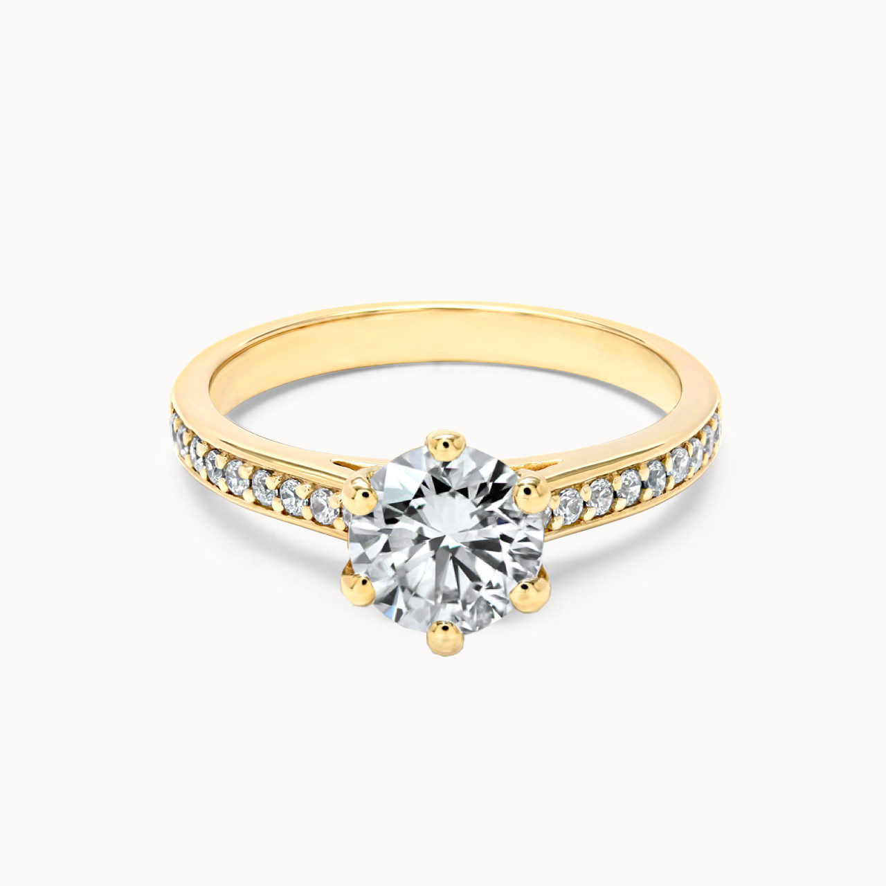 Pavee Ring aus Gelbgold mit 1 Karat Diamant