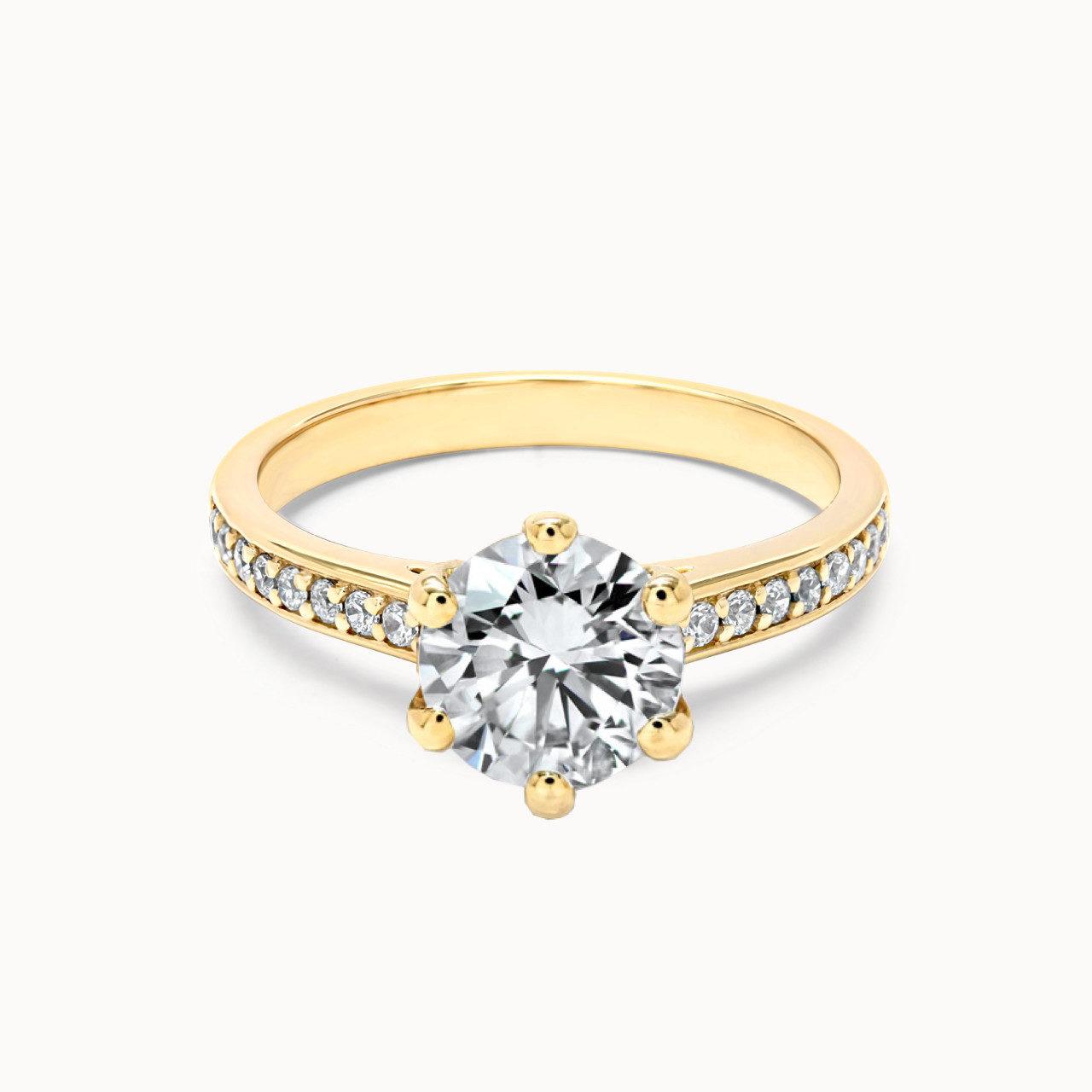 Pavee Ring aus Gelbgold mit 1.25 Karat Diamant