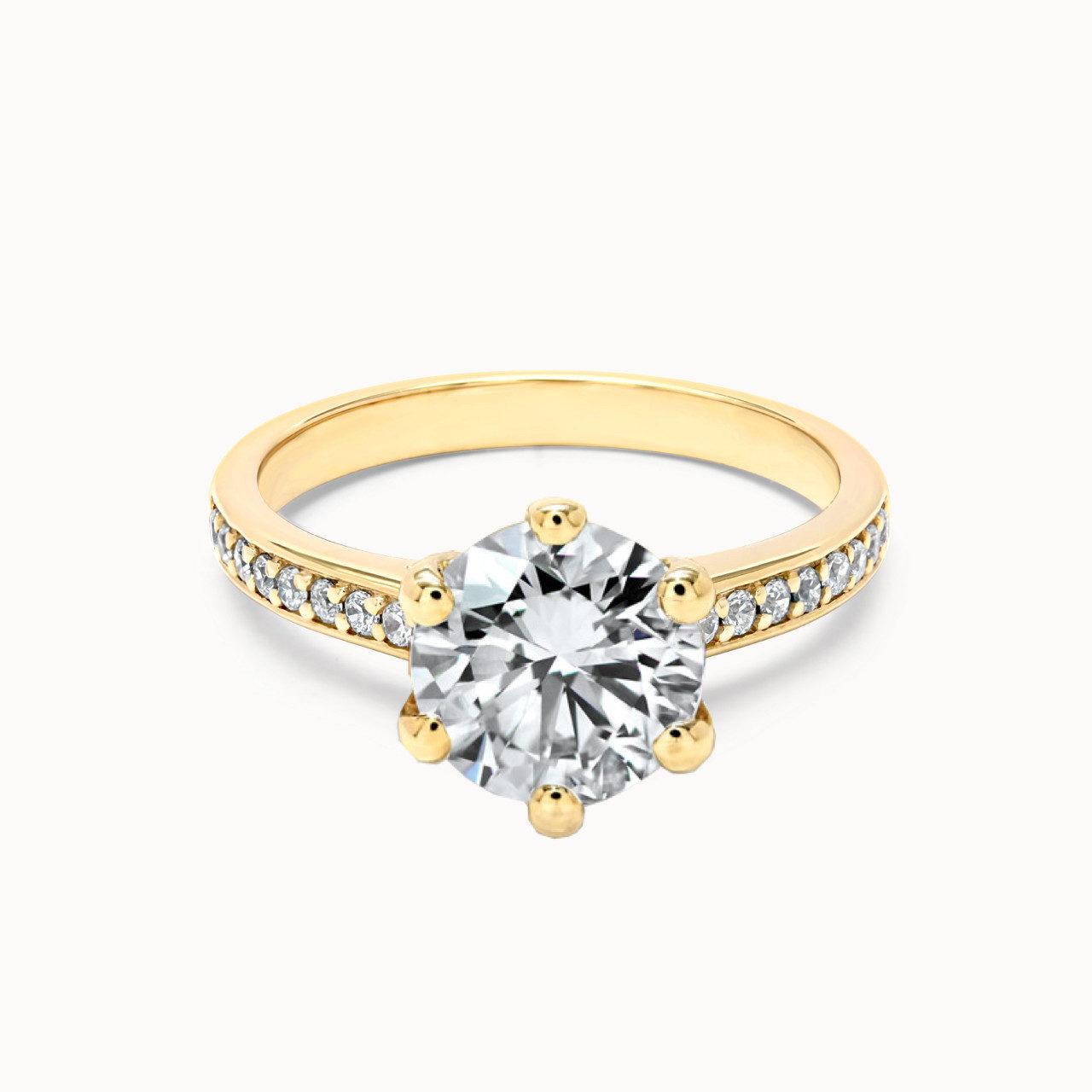 Pavee Ring aus Gelbgold mit 1.5 Karat Diamant