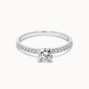 Pavee Ring mit Diamant aus Weißgold 0,25 ct. Hauptstein