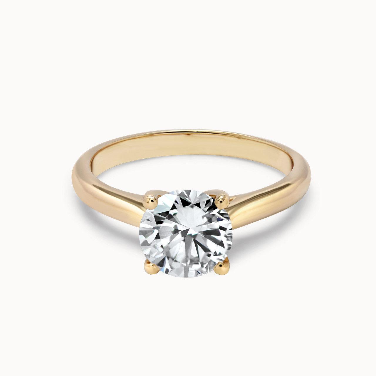 4 Krappen Roségold Verlobungsring mit 1,25ct Diamant