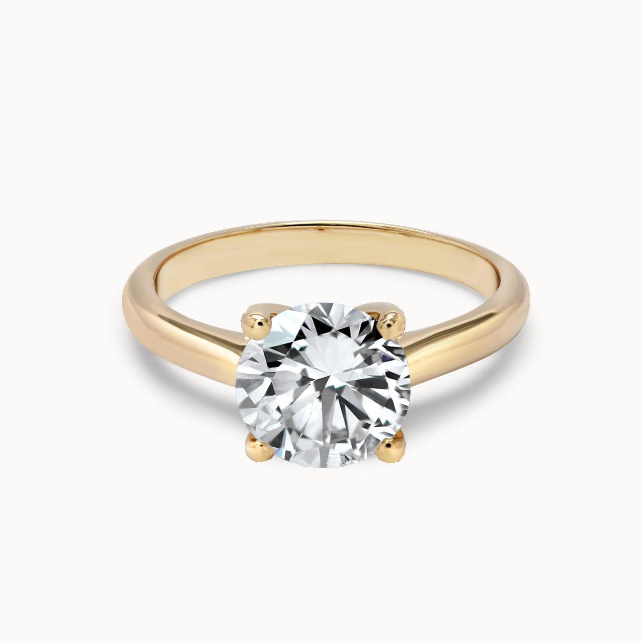 Eleganter Roségold Verlobungsring mit 1,5ct Diamant